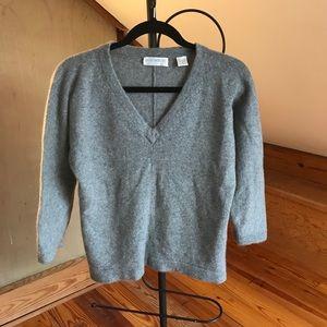 Hugo Buscati Gray Cashmere Sweater, EUC, L